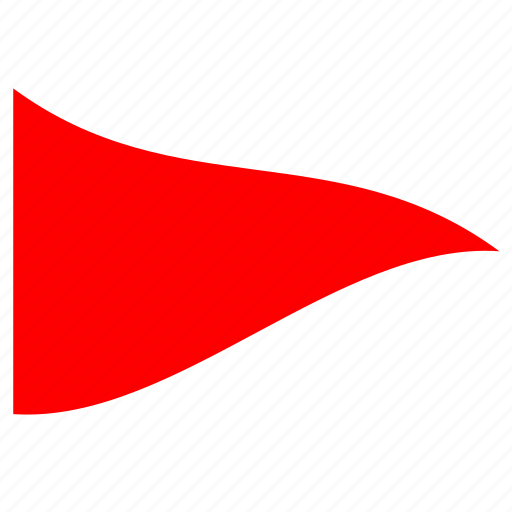 children flag, danger, red triangle, simple flag, triangular, warning icon