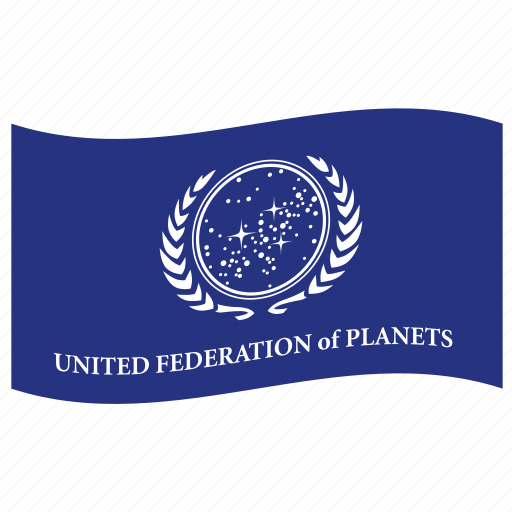 space flag, star trek, united federation of planets icon