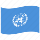 flag, nations, un, united icon