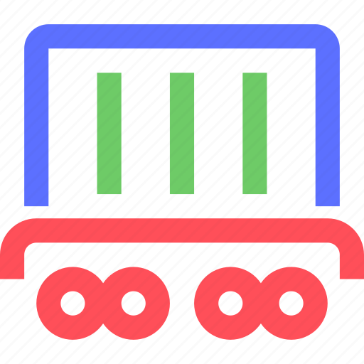 business, commerce, container, corporation, industry, trade, truck icon
