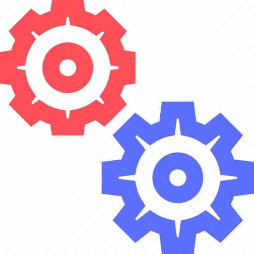 business, commerce, corporation, gears, industry, trade icon