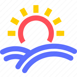agriculture, earth, farming, field, garden, nature, sun icon