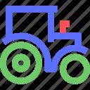 agriculture, earth, farming, garden, nature, tractor icon