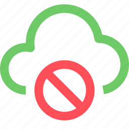 cloud, connection, failed, internet, net, network, system, web icon