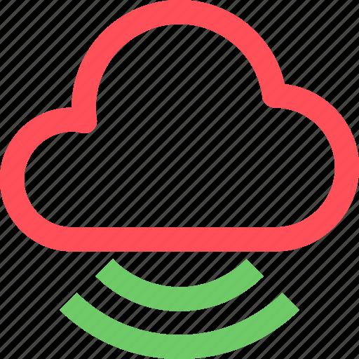 cloud, internet, net, network, signal, system, web icon