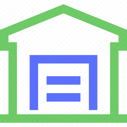 assets, equity, estate, garage, property, wealth icon