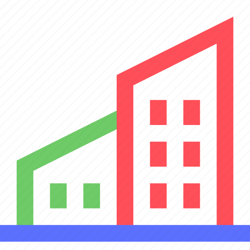 assets, complex, equity, estate, home, house, property, wealth icon