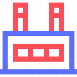 assets, equity, estate, factory, large, property, wealth icon