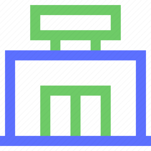 assets, equity, estate, property, shop, small, wealth icon