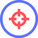 athletics, exercise, game, shooting, sports, target icon