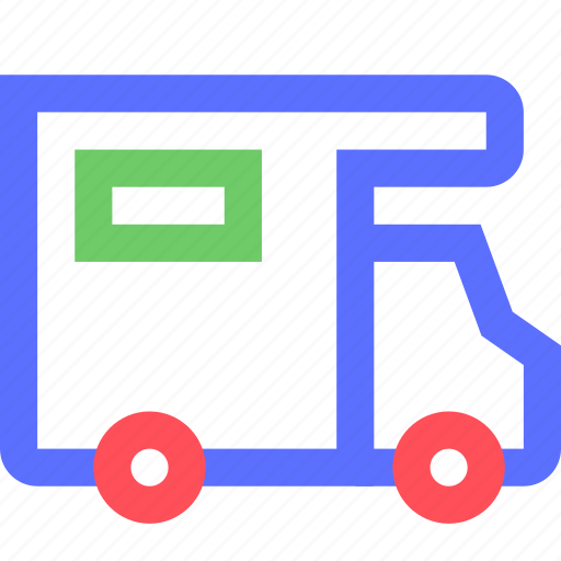 camp, car, carrier, freight, shipping, transit, transport icon