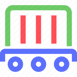 carrier, container, freight, shipping, train, transit, transport icon