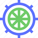 excursion, ship, tour, tourism, travel, trip, wheel icon