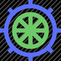 excursion, ship, tour, tourism, travel, trip, wheel icon