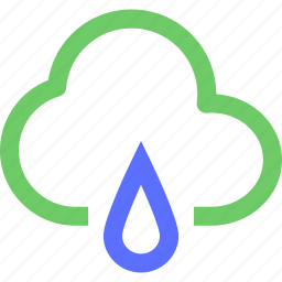 climate, cloud, drop, earth, forecast, nature, rain, weather icon