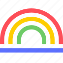 climate, earth, forecast, nature, rainbow, weather icon