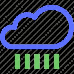 climate, earth, forecast, nature, raining, weather icon