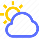 climate, cloud, earth, forecast, nature, sun, weather icon