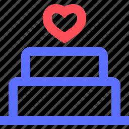 bells, bridal, cake, marriage, union, wedding icon