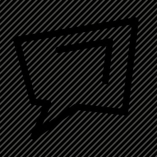 Chat, comics, message, speech, speech bubble, speak icon - Download on Iconfinder