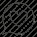 balloon, bubble, chat, heart, love, speech