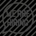 are, balloon, bubble, hiring, speech, we icon
