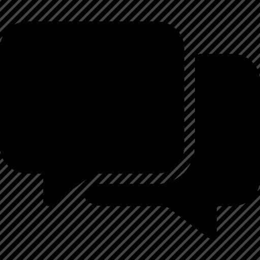 bubbles, chat, message, speech, talk icon