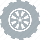 car, parts, tire, tires, wheel, wheels icon
