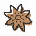 anise, cook, flower, herb, ingredient, plant, spice icon