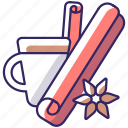 spice, seasoning, cinnamon icon, cinnamon icon