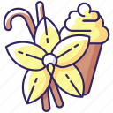vanilla, aromatic flavor, flower, vanilla icon icon