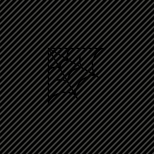 corner, quarter, spiderweb icon