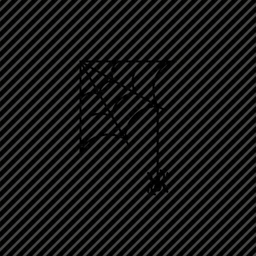 corner, quarter, spider, spider out, spiderweb icon