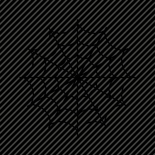 full, round, spiderweb icon