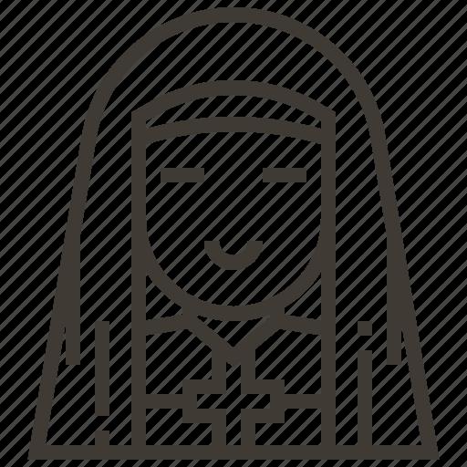 Avatar, catholic, christian, nun, people, religious, woman icon - Download on Iconfinder