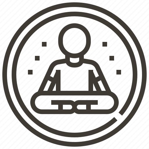 exercise, meditation, pilates, poses, relaxing, wellness, yoga icon