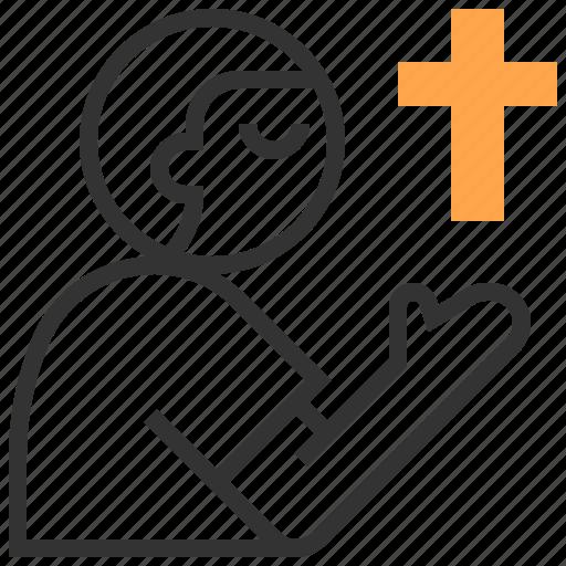 christian, cross, easter, gestures, prayer, religion, religious icon