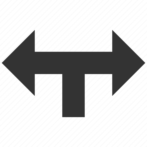 choice, connection, divide, left right, navigation, separate, split arrows icon