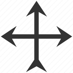 connection, cross, crossroad, direction arrow, intersection, navigation, separate icon