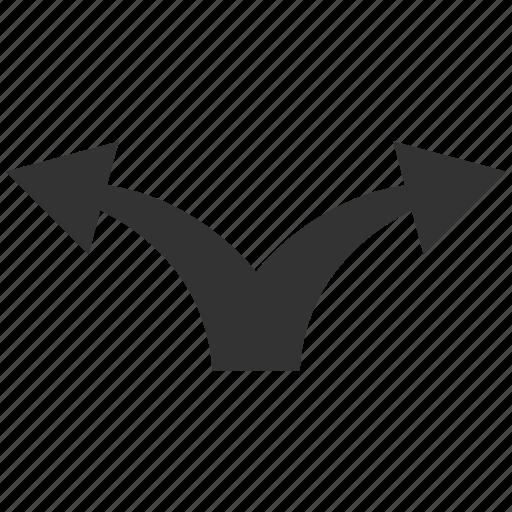 Arrow, divide, junction, left right, navigation, separate, split arrows icon - Download on Iconfinder