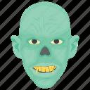 blue zombie, creepy megamind, megamind, megamind halloween, werewolf icon