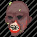 halloween character, horror face, mojo jojo, monster zombie, zombie teeth icon