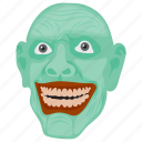 creepy face, terrible face, halloween character, horror face, dreadful man icon