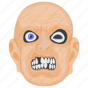 creepy face, terrible face, halloween character, dreadful man, scary face icon