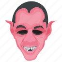 halloween character, monster, scary face, vampire, zombie icon