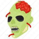 dead man, halloween character, horror face, spooky creature, zombie apocalypse icon