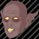 cartoon zombie, creepy creature, frankenstein, horrible creature, zombie halloween icon