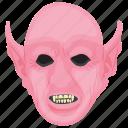 angry demon, creepy creature, devil, evil spirit, horned demon icon