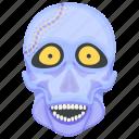 creepy skull, ghost, halloween skull, skull face, spooky skull icon