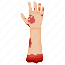evil hand, ghost hand, halloween decoration, skoopy object, zombie hand icon
